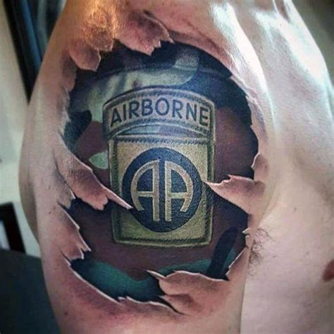 paratrooper tattoo 30 airborne tattoos for ink design ideas
