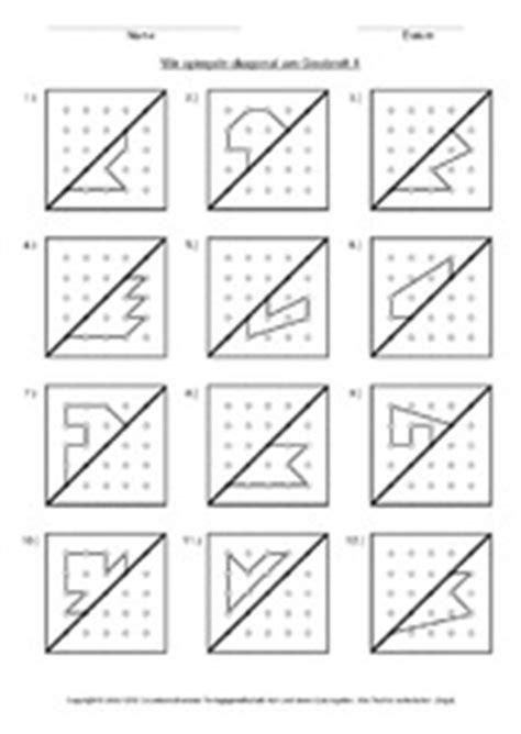 symmetrie  der grundschule grundschulmaterialde