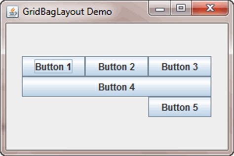 java layout weightx java swing gridbaglayout