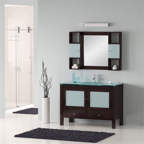 Modern Sink Cabinets For Bathrooms 48 Quot Modern Bathroom Vanity Modern Bathroom Vanities And Sink Consoles Miami By Bathroom