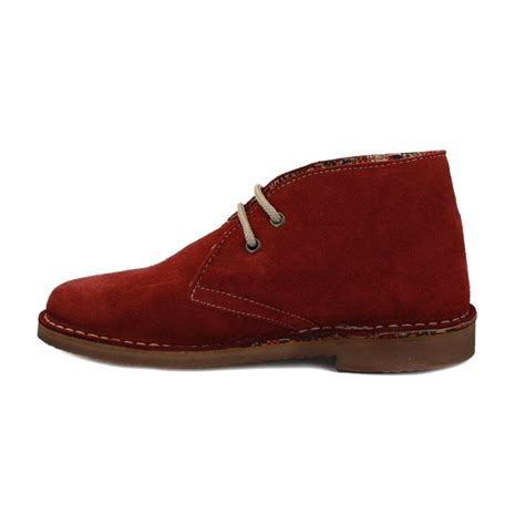 coolway mias womens laced suede desert boots burgundy