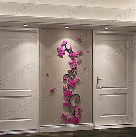 Kã Ndigen Brief Ka To Wall Decorative 3d Flower Wall Stickers Acrylic Brief Introduction Design
