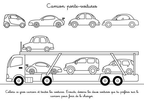 Coloriage Voiture Et Camion