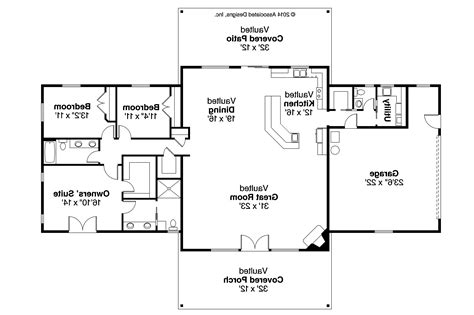 Large Ranch Floor Plans Ranch House Plans Anacortes 30 936 Associated Designs