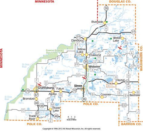 wi map burnett county wisconsin map