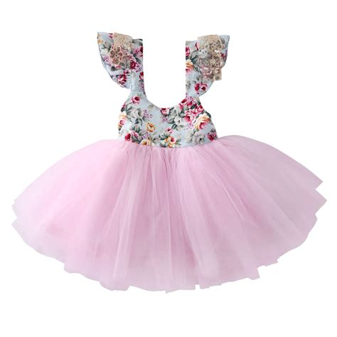 Princes Gown Tutu Dress Baby 8 Thn Code A3 flower toddler dress baby floral princess dress lace tutu gown child