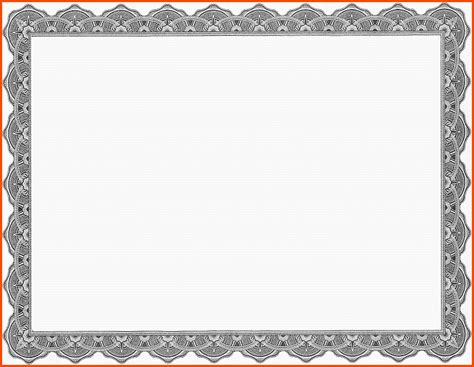 template for certificate blank gift certificate template exle mughals