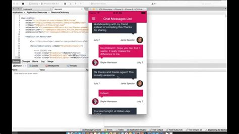 xamarin chat layout grial ui kit for xamarin forms youtube