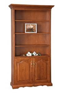 Bookshelves With Doors Amish Bookcase With Doors On Bottom