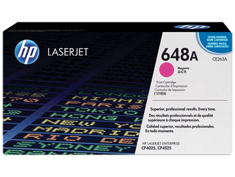 hp 648a magenta original laserjet toner cartridge ce263a