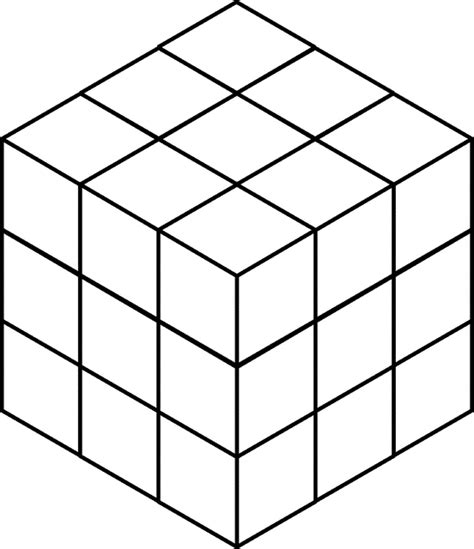 3 dimensional cube template 27 stacked congruent cubes clipart etc