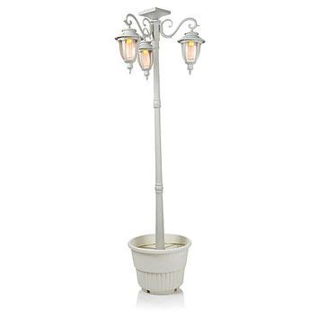 hgtv home solar powered post light with from hsn home is