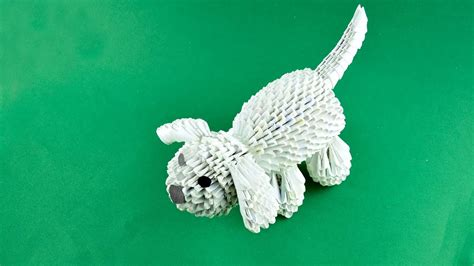 3d origami animals tutorial dog of paper assembly 3d origami tutorial youtube