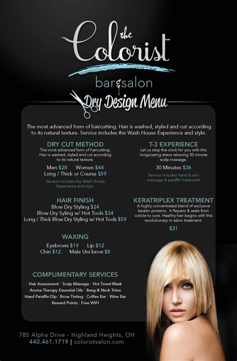 hair of the menu cleveland hair salon menu the colorist bar and salon