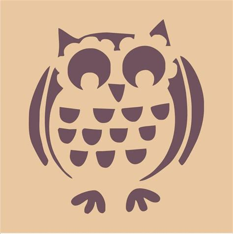 printable owl stencils owls set of 2 diy sign stencils 4 sizes available