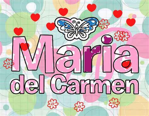 imagenes de el nombre carmen dibujo de maria del carmen pintado por en dibujos net el