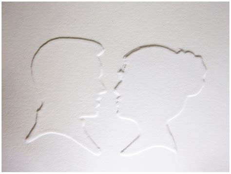 embossing template how to make silhouette embossing stencil howtoi