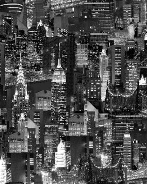 new york city skyline fabric nyc city