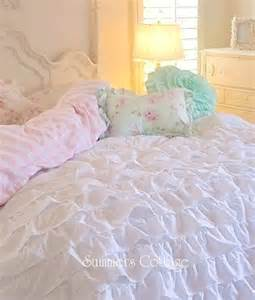 Shabby Chic Shams by Beach Cottage Chic Dreamy Ruffles Comforter Set Twin