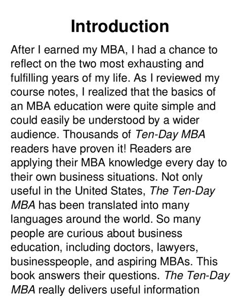 10 Day Mba Book by 10days Mba