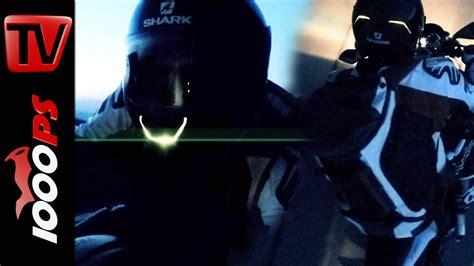 Motorrad Bilder Bei Nacht by Video Shark Skwal Testfahrt Bei Nacht Led Beleuchteter