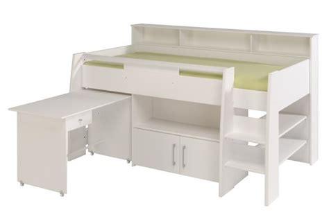 lit mezzanine avec bureau et armoire int馮r駸 lit mezzanine en imitation bois blanc bureau et armoire