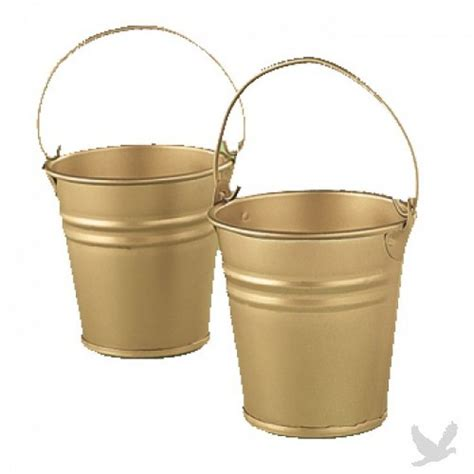 wholesale wedding galvanized buckets metal gold mini favor buckets f 3 1228 gold mini favor