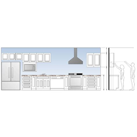 Kitchen Plan Section Elevation by Kitchen Elevation Plan