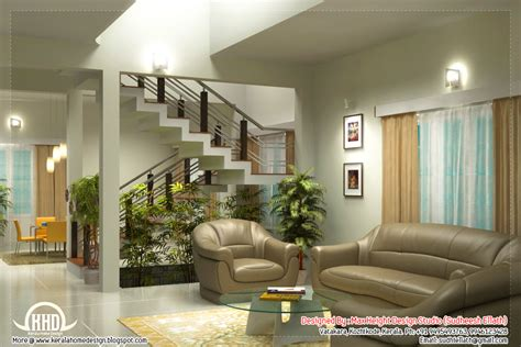 Beautiful Living Room Rendering Kerala House Design Interior Design Of Living Room