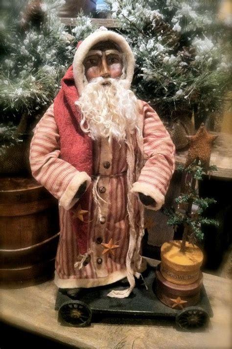 Handmade Santas - handmade primitive santa folk ooak