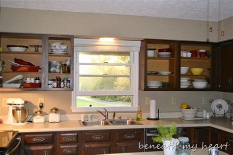 Kitchen Makeover Update I Ve Opened Up A Can Of Worms Open Kitchen Cabinets No Doors
