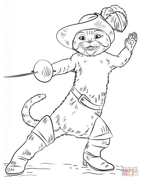 dibujo el gato botas colorear dibujos
