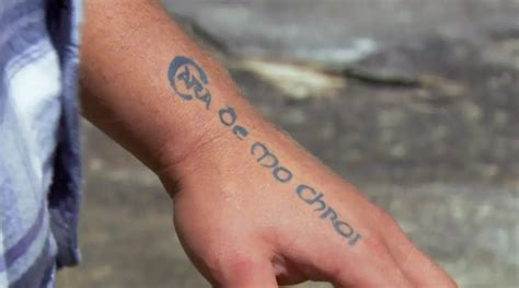 tattoo on brax s hand brax home and away irish tattoo