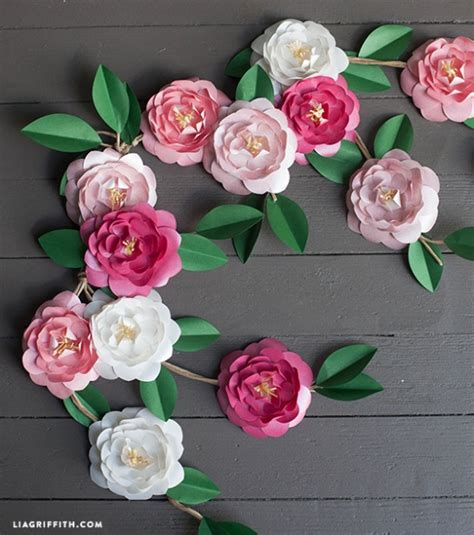Flower Papercraft - diy paper camellia flowers by lia griffith project