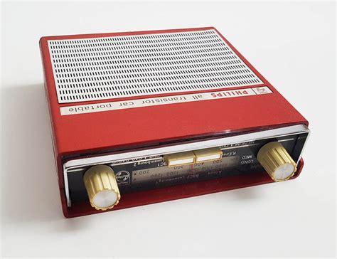 transistor vehicle philips p3g38t 00 all transistor car portable radio 1960s