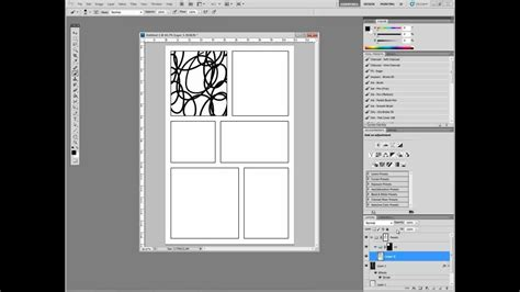 Digital Comics In Adobe Photoshop Part I Setting Up Comic Panel Template Photoshop