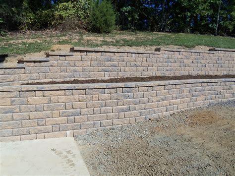 stone block retaining wall stafford nursery