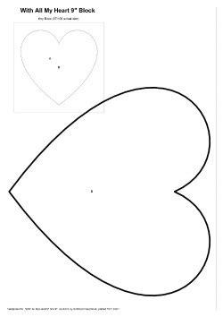heart pattern block templates joannes designs week3