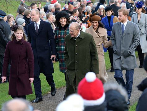 members of the royal family the and members of the royal family attend church on