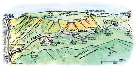 map of oregon eagle creek hike eagle creek oregon
