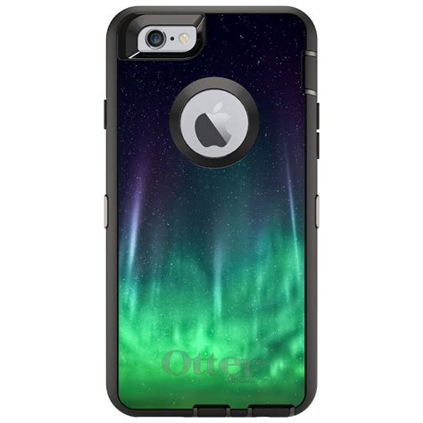 custom otterbox defender for iphone 6 6s 7 plus borealis northern lights