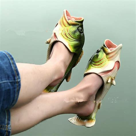 fish shoes fish slippers drunkmall