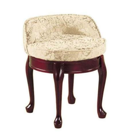 Delmar High Back Swivel Vanity Stool by Home Decorators Collection Delmar Ivory Damask Low Back
