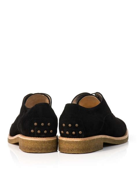 tod s suede tod s suede laceup shoes in black lyst
