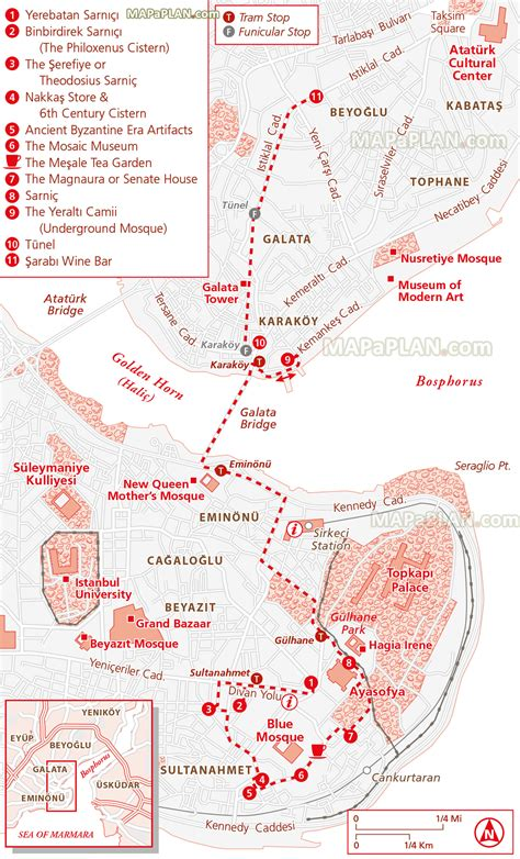 printable map route planner istanbul map underground walking tour trail directions