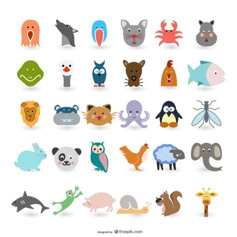 imagenes animales varios los animales de dibujos animados lindos vectores