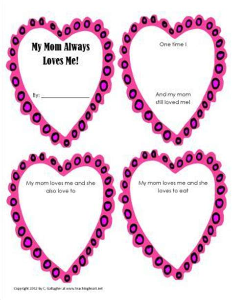 Mother S Day Ideas For Teachers Printables Crafts