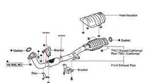 2002 Camry Exhaust System Diagram Exhaust Flex Pipe Replacement On A 1995 Toyota Corolla