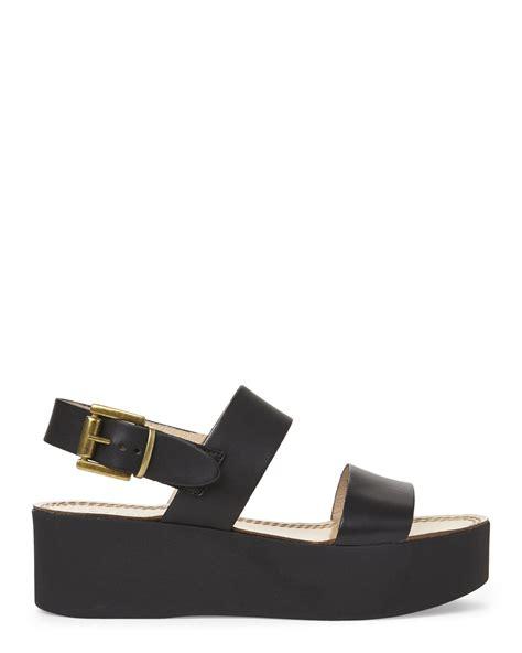 gabriella black platform sandals in black lyst