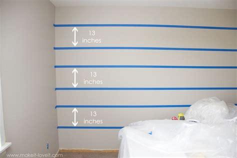 paint super straight horizontal stripes
